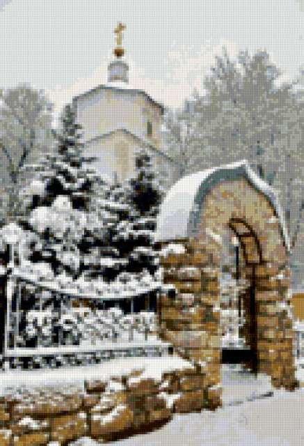 Храм зимой, предпросмотр
