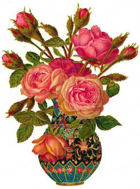 Розы в вазе, оригинал