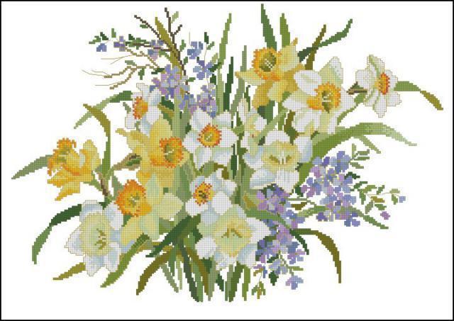 Букет нарциссов, букет, цветы,