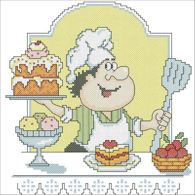 Поваренок с тортом, оригинал