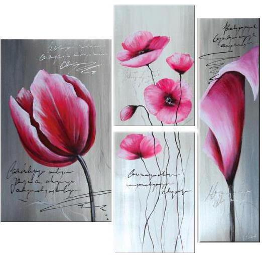 "Триптих ""Цветы"", оригинал"