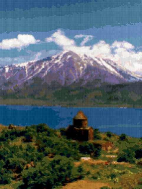 Озеро Ван и гора Арарат,
