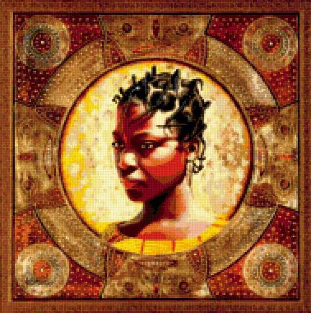 африканская женщина,