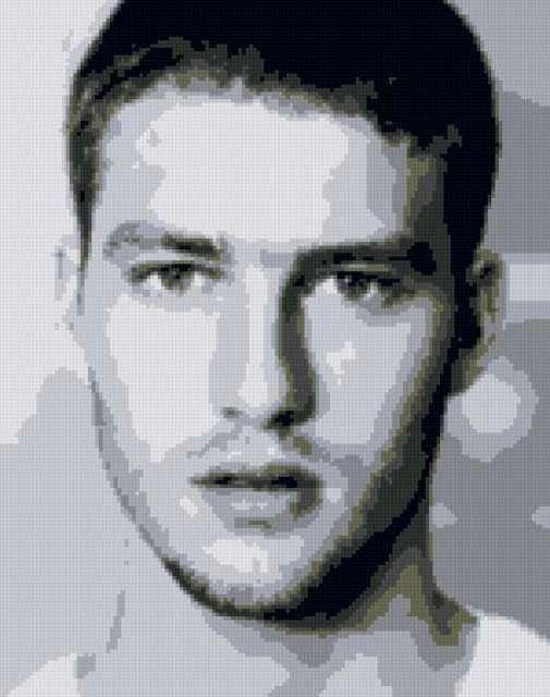 Портрет мужчины, лицо