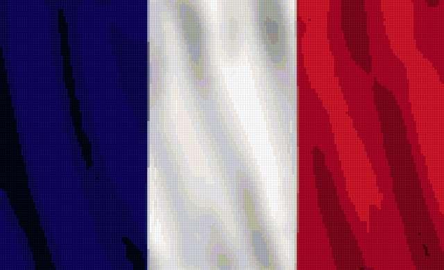 Схема вышивки «Французский