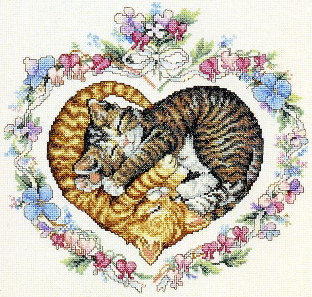 Котята в сердечке, оригинал