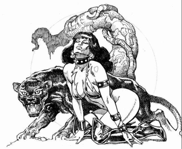 Девушка с пантерой, оригинал