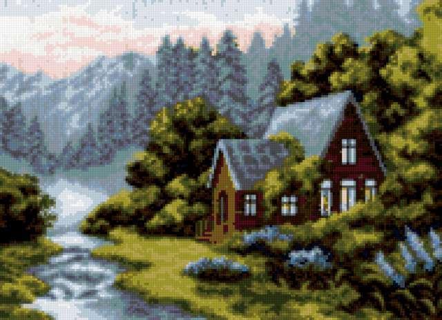 Вечер в горах, предпросмотр