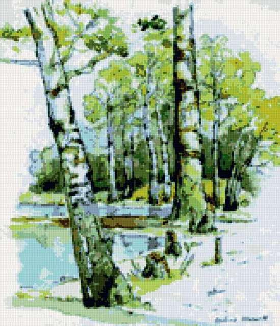 Весенний пейзаж, предпросмотр
