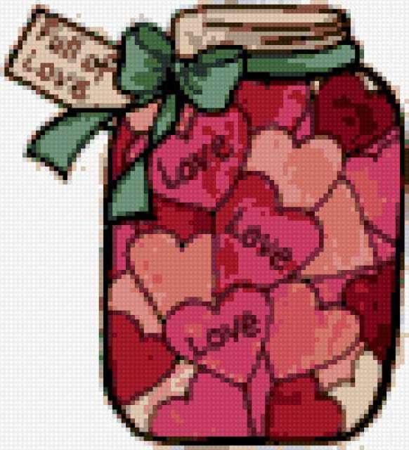 Валентинка, сердечки, любовь