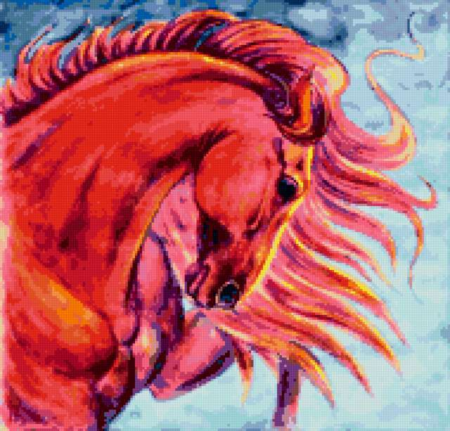 Розовый конь, предпросмотр