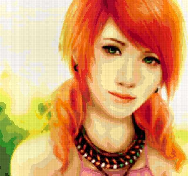 Схема вышивки «Рыжие волосы и