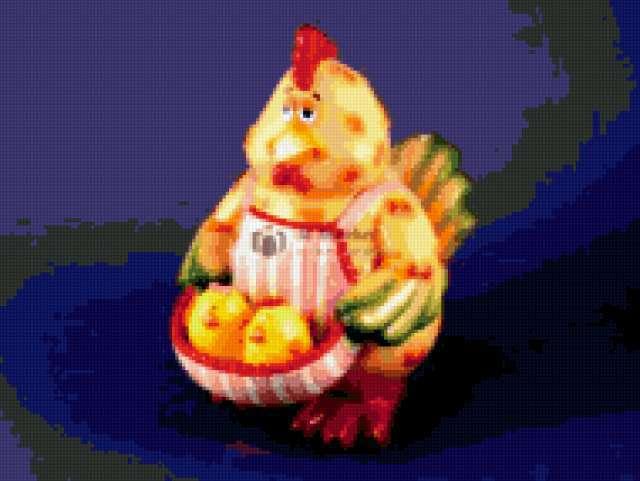 Курица. Банка для печенья,
