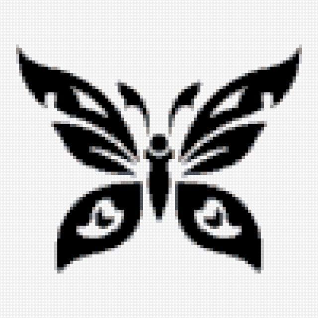 Бабочка, бабочка, черно белое