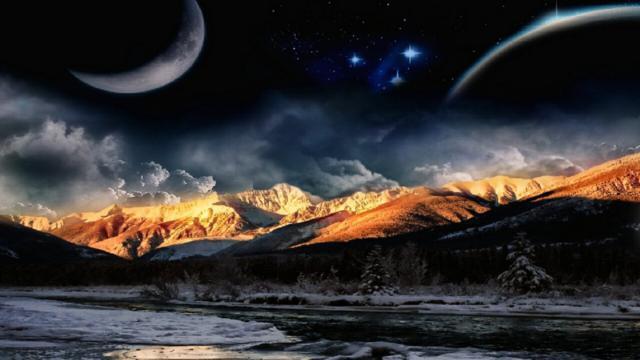 Космос, космос, небо, планеты,