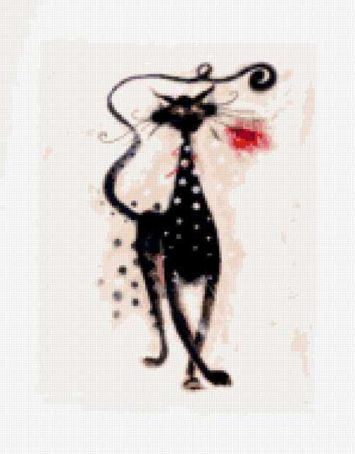 Кот с розой, предпросмотр