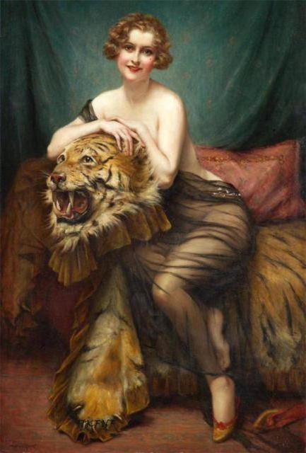 Девушка со шкурой тигра,