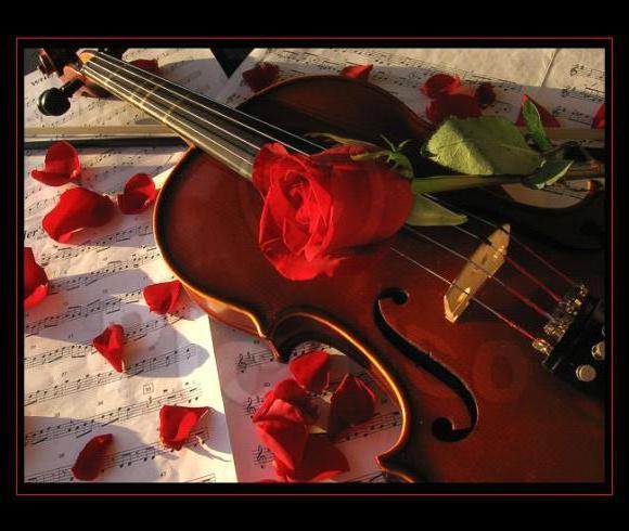 Скрипка и роза, оригинал