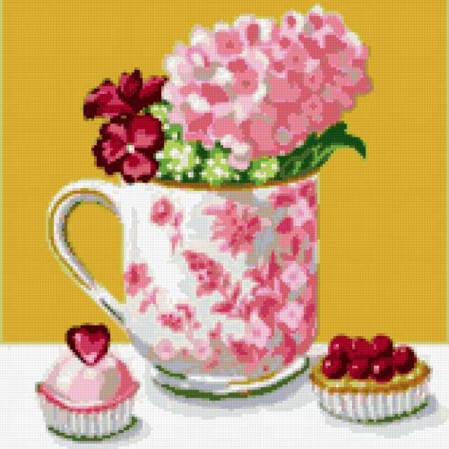 Цветы и сладости, цветы,