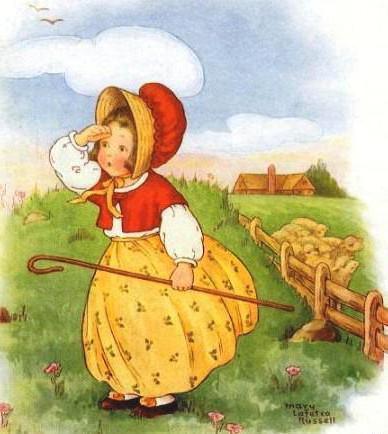 пастушка, ретро, красная