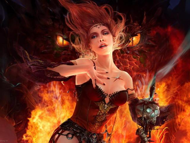 Ведьма стихии огня, оригинал