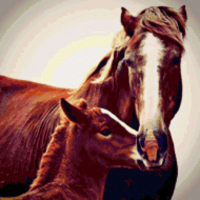 Лошадь и жеребенок ,