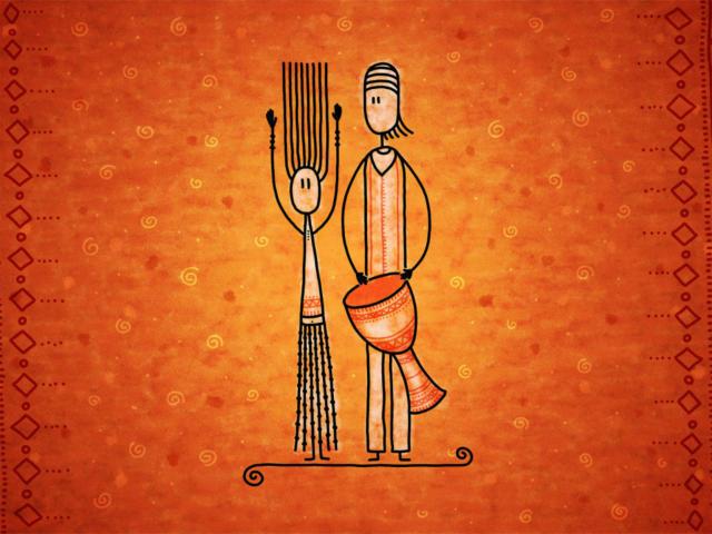 Мужчина и женщина, интерьер,