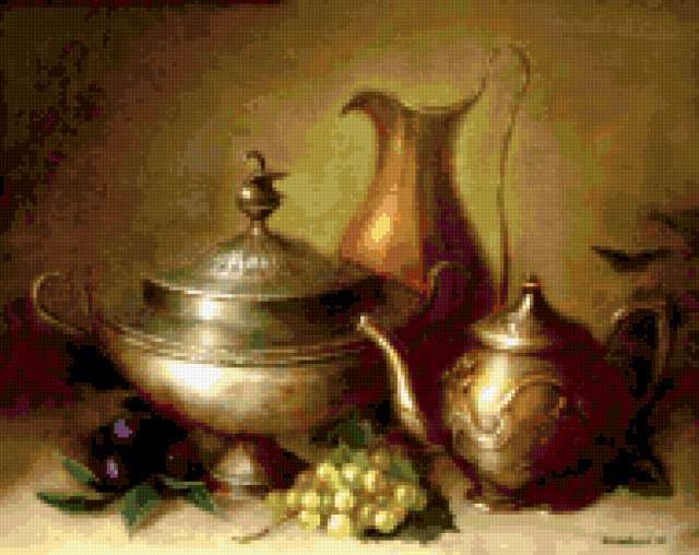Старинная посуда, предпросмотр