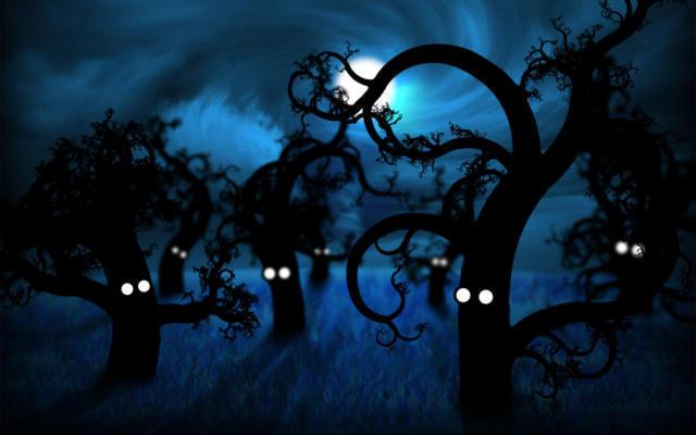 Волшебный лес, ночь, дети,