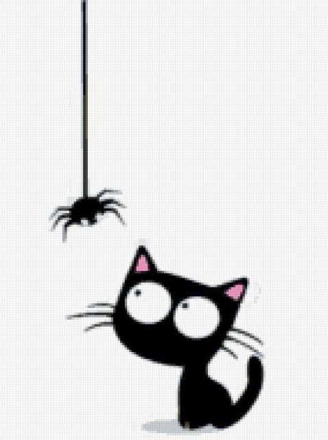 Кот и паук, предпросмотр