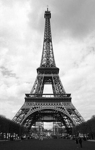 Эйфелева башня, черно-белая