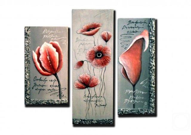 Триптих цветы оригинал