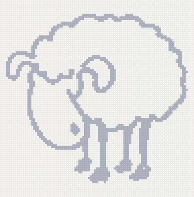 Овца контур, оригинал