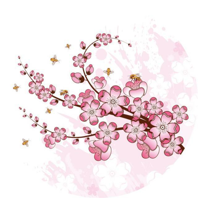 Схема вышивки «Ветка сакуры»