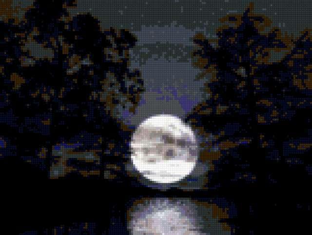 Луна в реке, предпросмотр