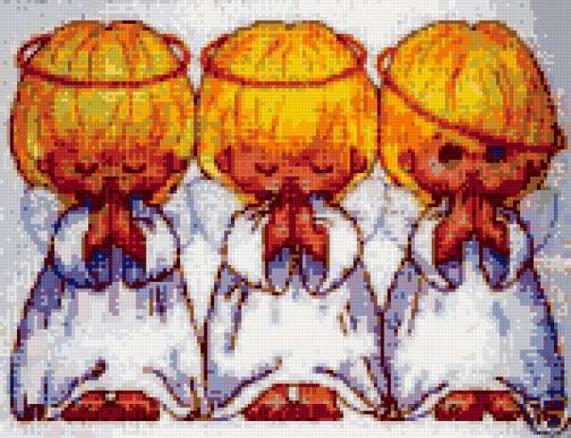 Три ангелочка, ангелы, дети