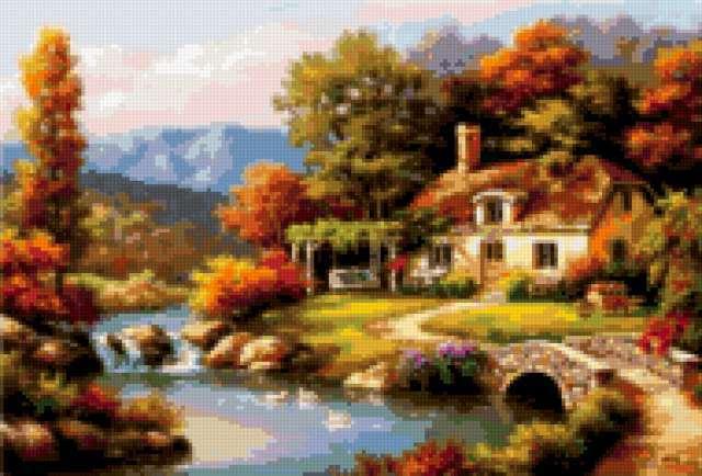 Дом на берегу реки,