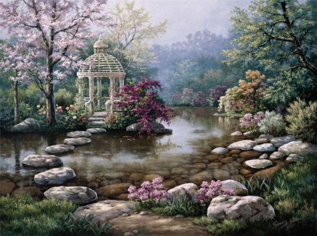 Японский садик, оригинал