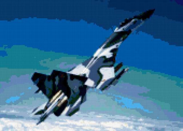 Военный самолет Сухой