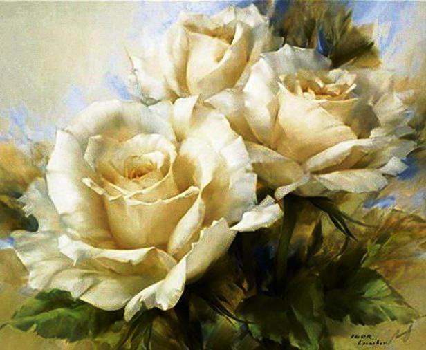 Чайные розы, цветы, флора,
