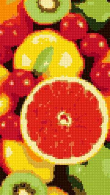 Цветные фрукты,