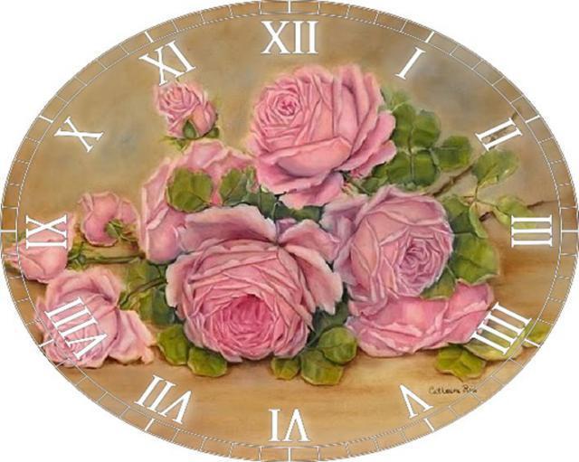 Вышивки крестом часы схема