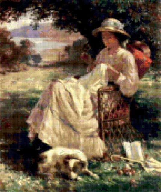 Вышивальщица, женщина