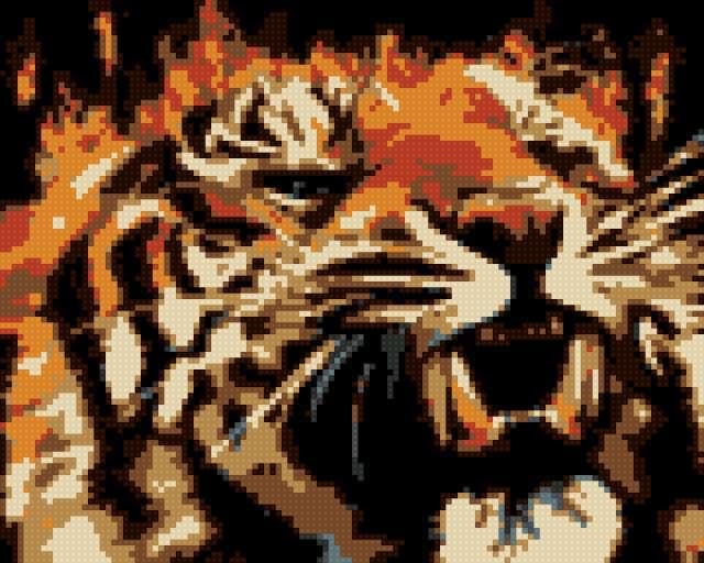 Тигр бисер, предпросмотр