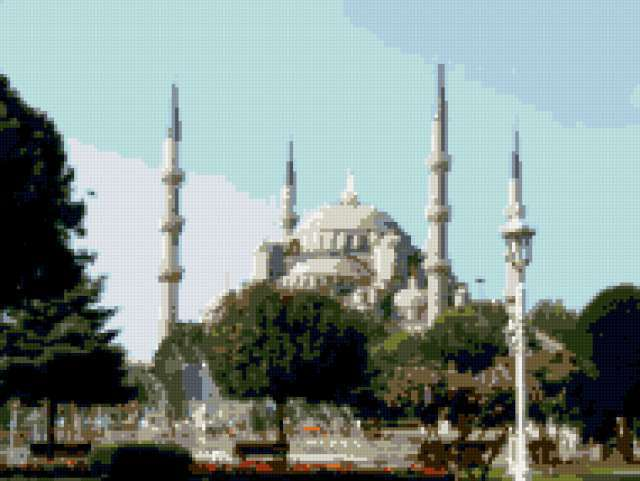Голубая мечеть, архитектура