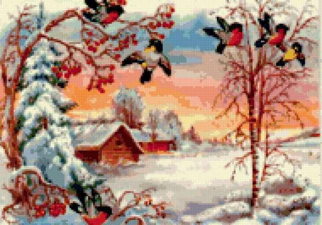 Снегири, птица, природа, ветка