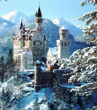 Замок в зимних горах, оригинал