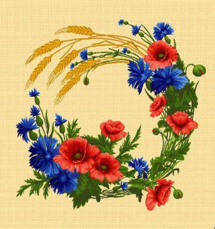 Полевой венок 1, цветы,