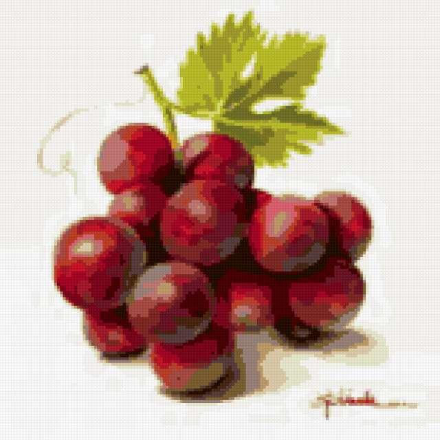 Виноград, овощи и фрукты,