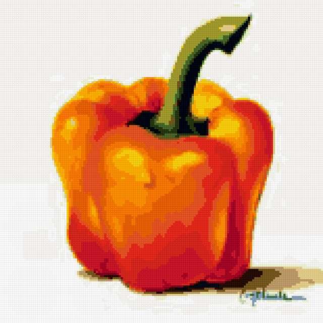 Перчик, овощи и фрукты, ягоды,